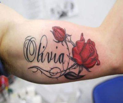 tatuaje de nombre clasico