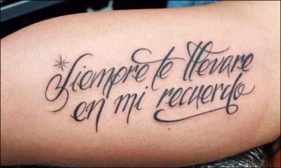 letras cursivas para tatuajes en el antebrazo