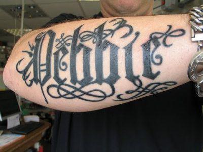letras goticas para tatuajes abecedario