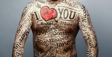 tatuajes de nombres en el hombro para hombres
