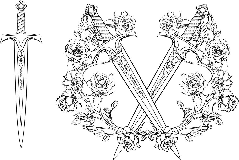 que significa daga y rosa