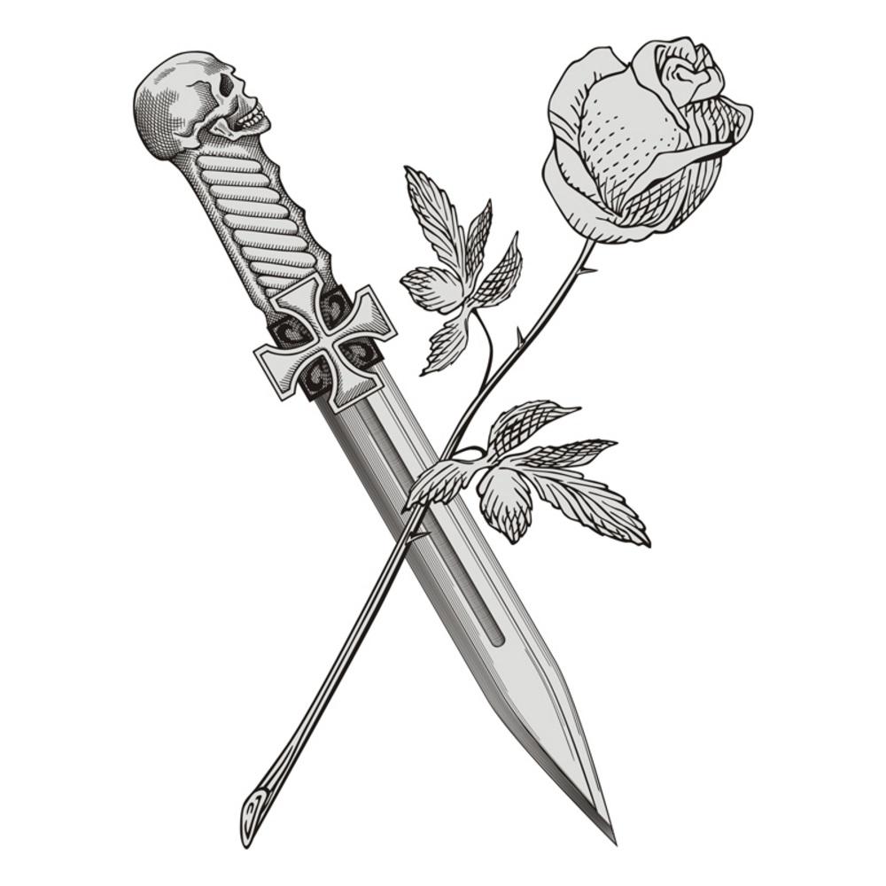 significado de rosa y daga